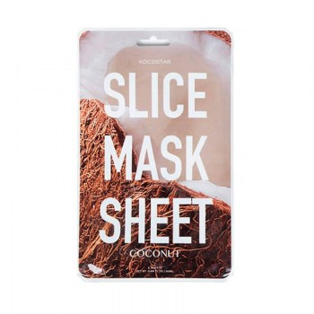 kocostar slice mask sheet coconut